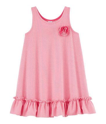 Girls' Dress Geisha pink / Marshmallow white