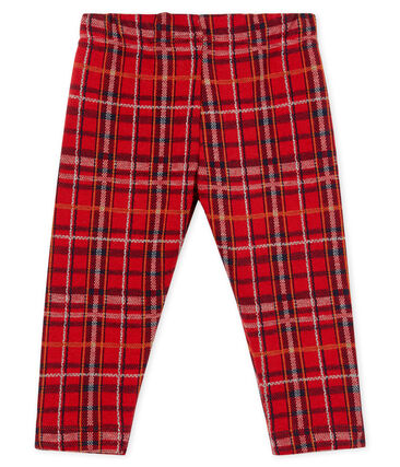 Baby Boys' Checked Knit Trousers Terkuit red / Multico white