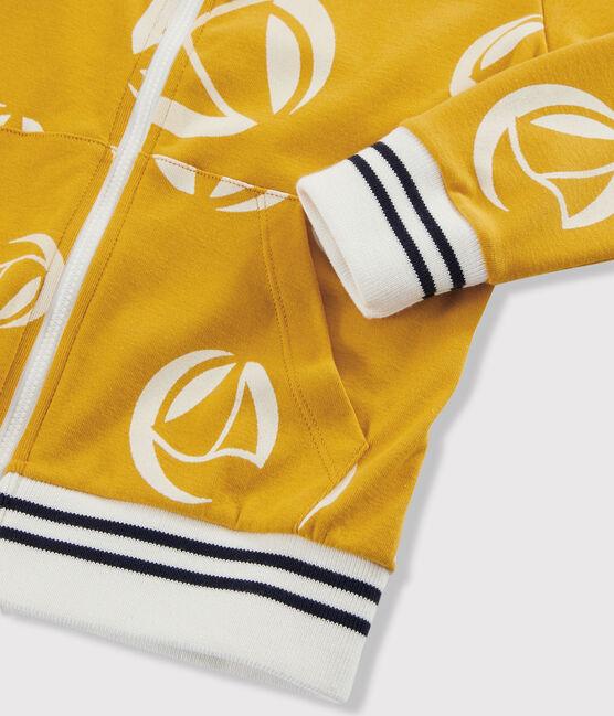 Boys' Zipped Sweatshirt Boudor yellow / Marshmallow white