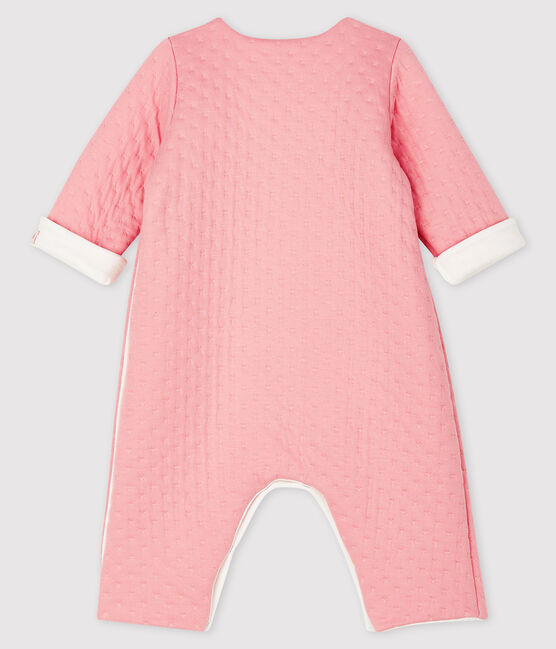 Babies' Long Jumpsuit in Quilted Tube Knit CHARME