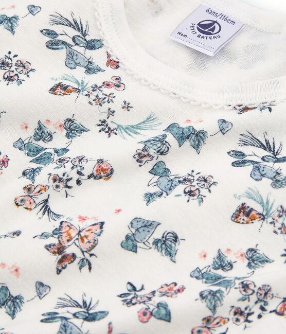 Girls' Snugfit short Pyjamas Marshmallow white / Multico white