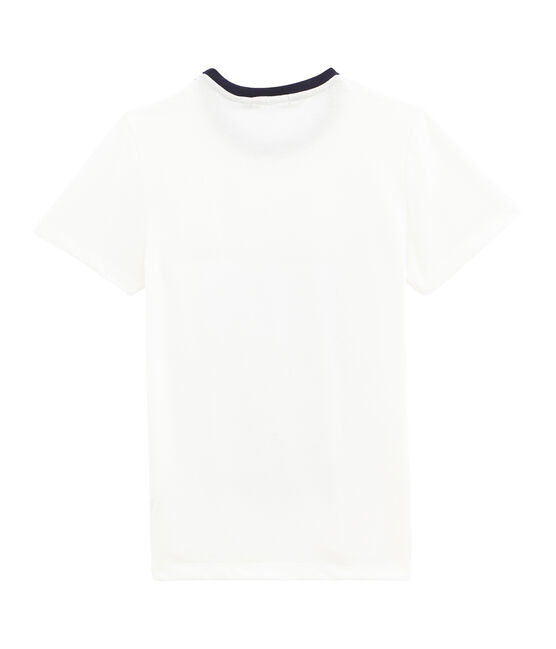 women's navy blue striped t-shirt Marshmallow white / Multico white