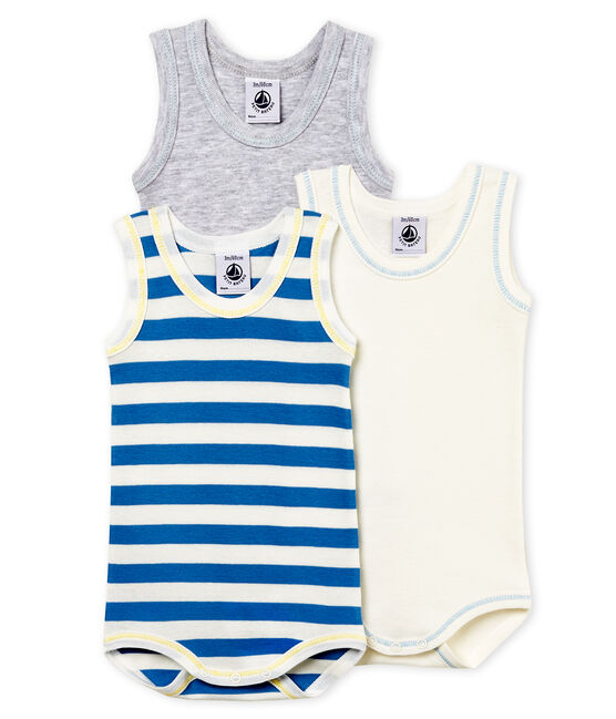 Baby Boys' Sleeveless Bodysuit - Set of 3 . set