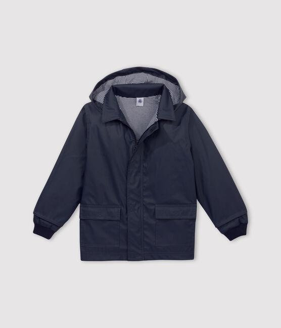 Babies' Unisex Iconic Petit Bateau Raincoat Smoking blue