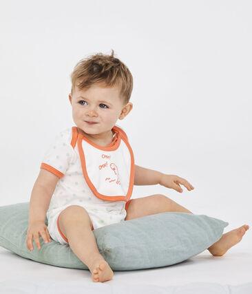 Baby Boys' Ribbed Playsuit Marshmallow white / Verglas green