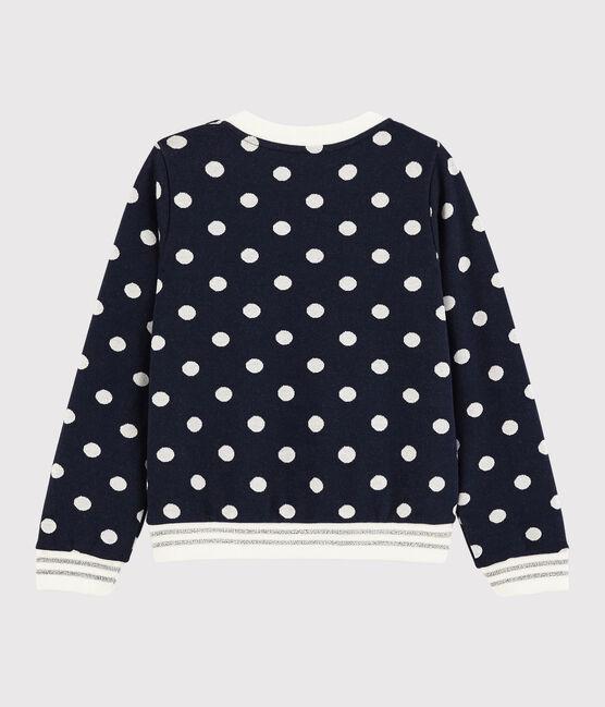 Girls' Sweatshirt Smoking blue / Marshmallow white