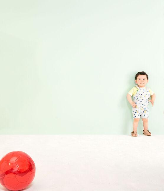 Baby Boys' Print Dungarees Beluga grey / Multico white