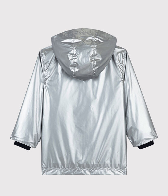 Girls/Boys' Silver Raincoat Argent grey
