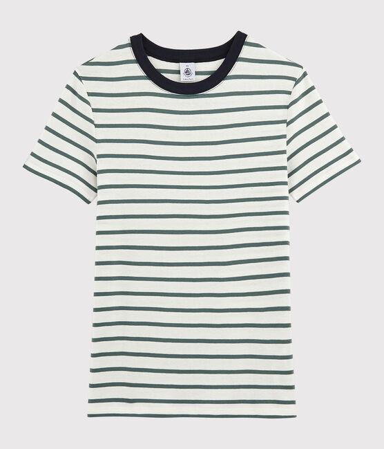 Women's Iconic Round Neck T-Shirt Marshmallow white / Vallee green