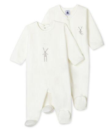 Babies' velour sleepsuit - Set of 2 . set