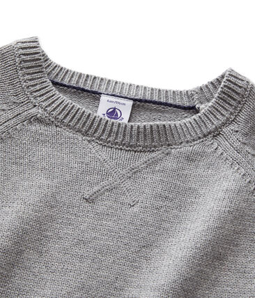 Boys' wool and cotton knit jumper