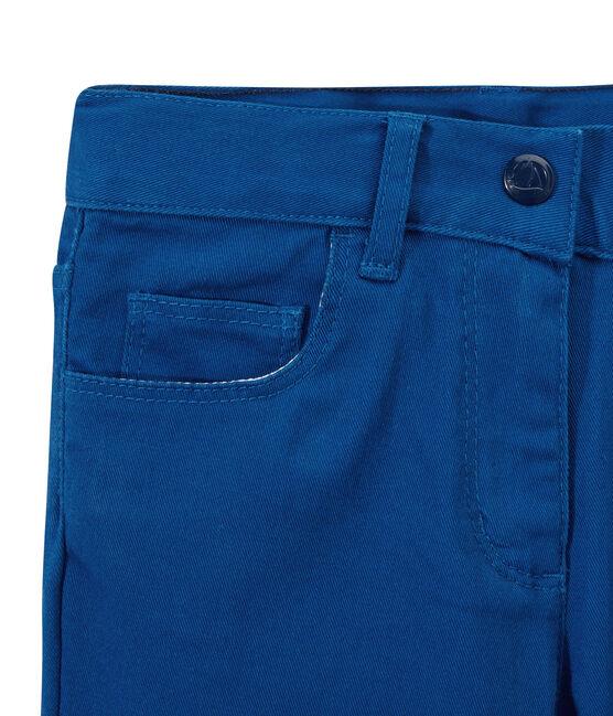 Girls' coloured denim trousers Perse blue