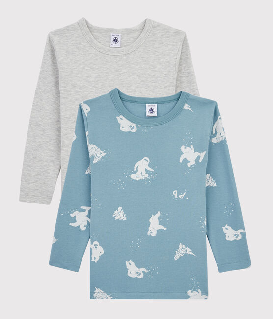 Boys' Yeti Footprint Long-Sleeved T-Shirt - 2-Piece Set . set