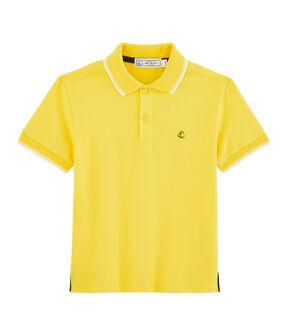 Boys' Polo Shirt Shine yellow