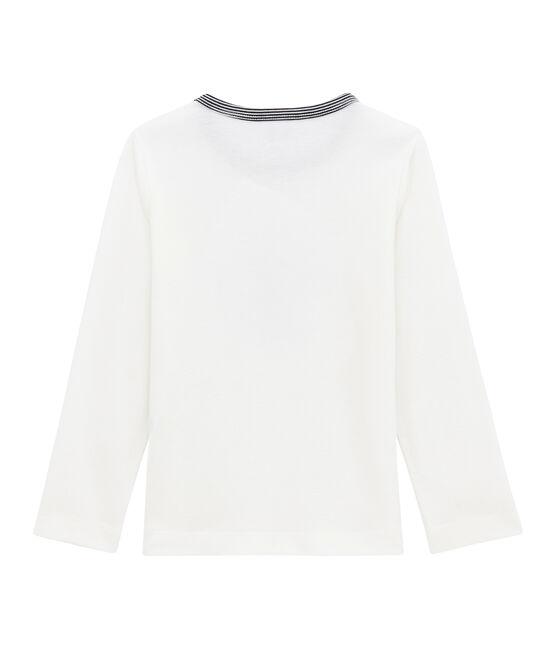 Little boy's long sleeved T-shirt Marshmallow white