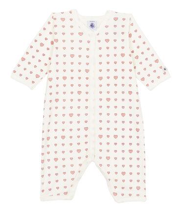 Baby Girls' Ribbed Footless Sleepsuit