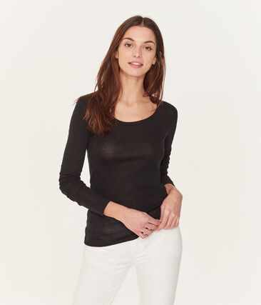 Women's long-sleeved lightweight cotton t-shirt