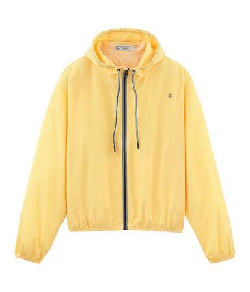 Unisex short windbreaker Honey yellow / Marshmallow white