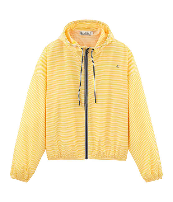 Unisex short windbreaker Honey yellow / Marshmallow white