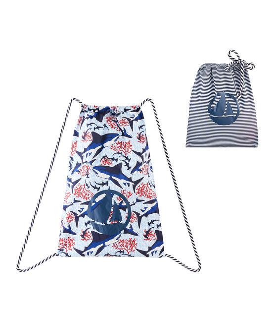 Lightweight backpack for boys Marshmallow white / Multico white