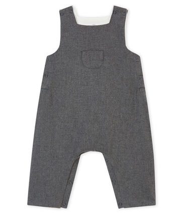 Baby boy's flannel dungarees