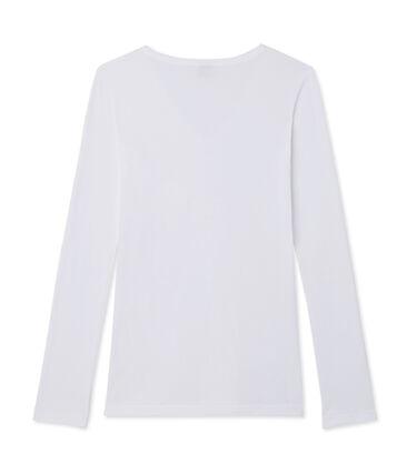 Women's Long-Sleeved Iconic T-Shirt Ecume white