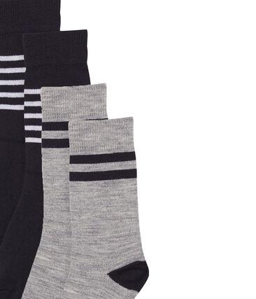Boys' Long Warm Socks - 2-Piece Set . set