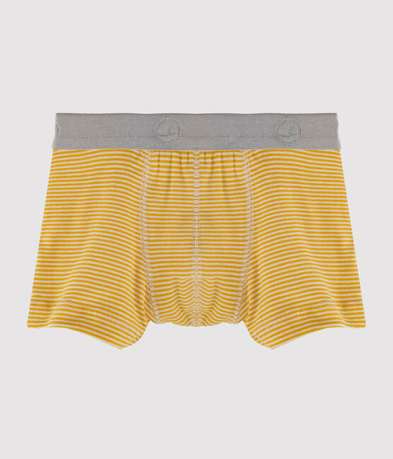 Boys' Boxer Shorts Sahara yellow / Marshmallow white