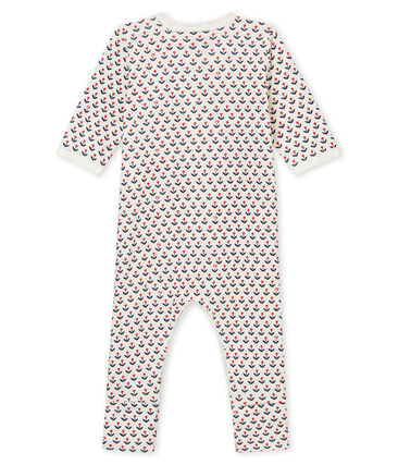 Baby girl's reversible footed sleepsuit