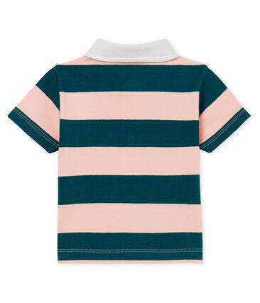 Baby boys' striped jersey polo shirt