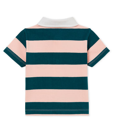 Baby boys' striped jersey polo shirt