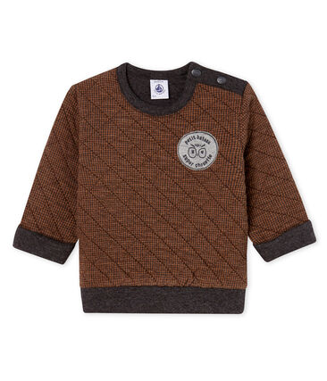 Baby Boys' Houndstooth Tube Knit Sweatshirt City black / Cocoa brown