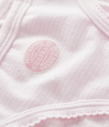 Girls' pants Pearl pink / Multico white