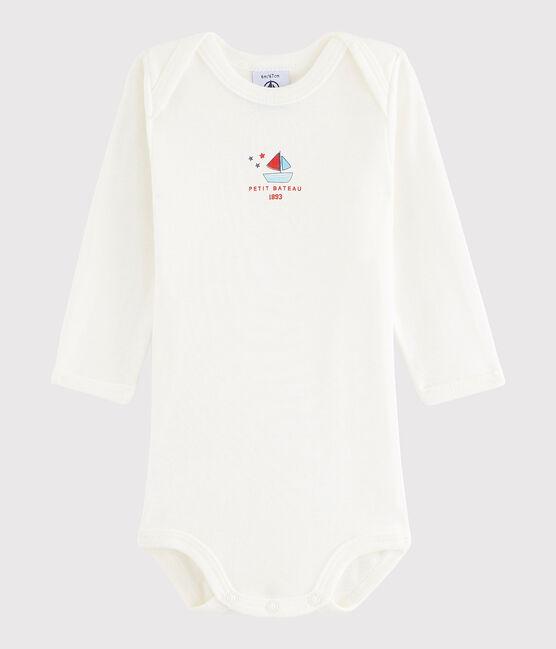 Unisex Babies' Long-Sleeved Bodysuit Lait white