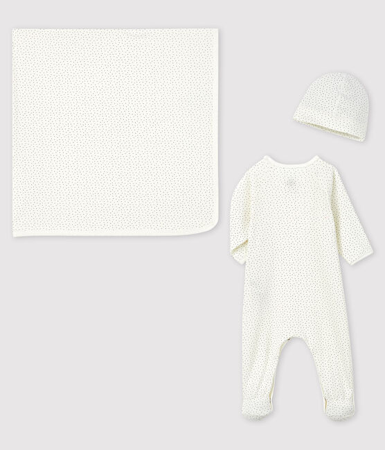 Newborn girl's rib knit gift set . set