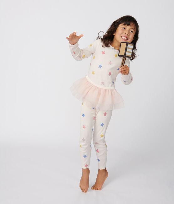 Girls' Dancer Disguise Ribbed Pyjamas Fleur pink / Multico white