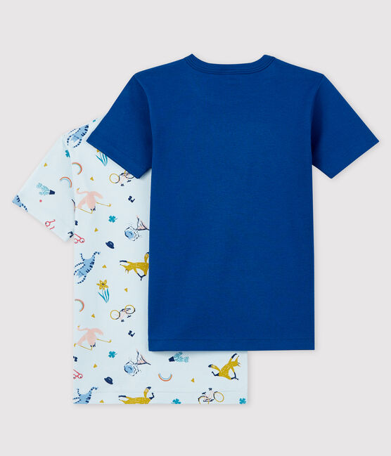 Boys' Short-Sleeved Yoga Animals T-Shirt - 2-Piece Set . set
