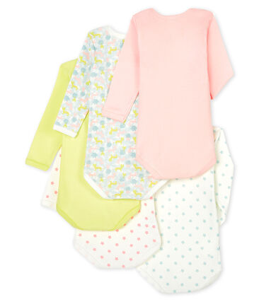 Baby Girls' Long-Sleeved Bodysuit - 5-Piece Set . set