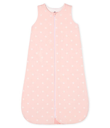 Baby Girls' Velour Sleeping Bag Minois pink / Marshmallow white