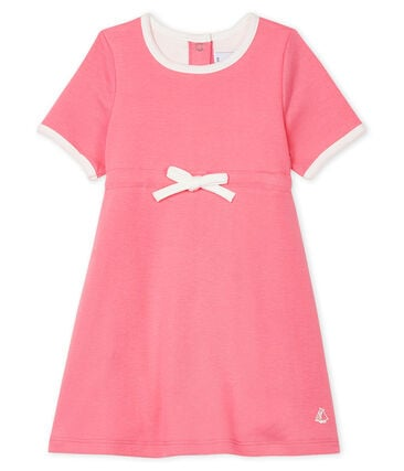Baby Girls' Short-Sleeved Bodysuit/Dress Cupcake pink