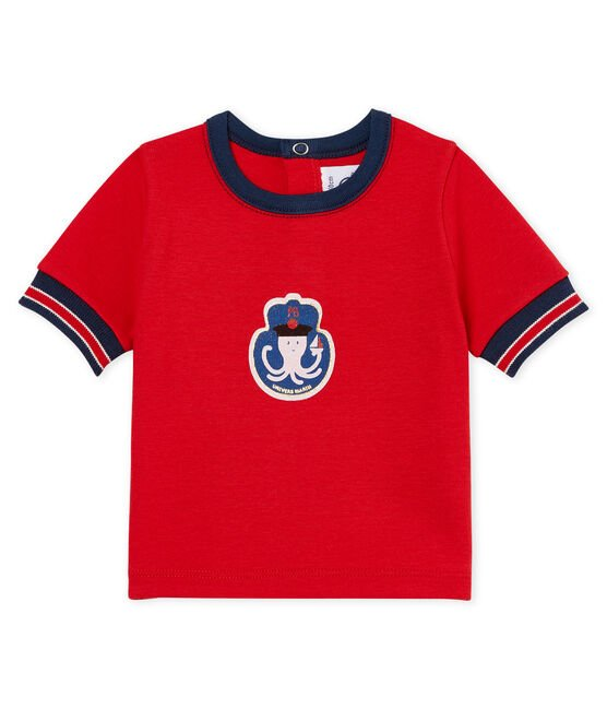 Baby boys' t-shirt with motif Terkuit red