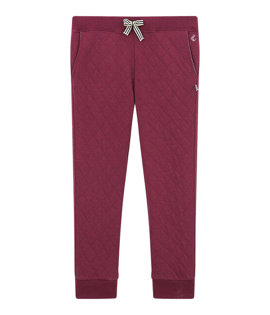 Boy's quilted double knit trousers Ogre red
