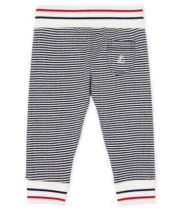 Baby Tube Knit Trousers Smoking blue / Multico Cn white