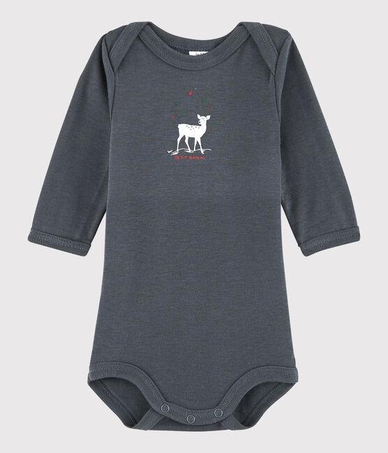 Baby Boys' Long-Sleeved Bodysuit Maki grey