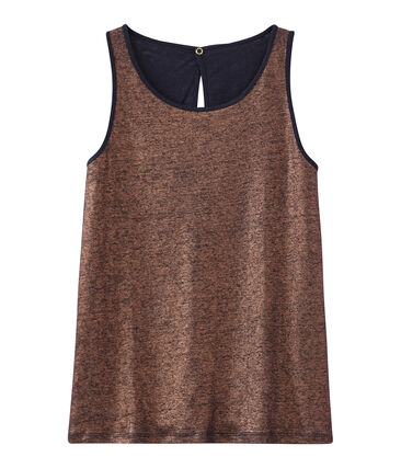 Women's iridescent linen sleeveless top