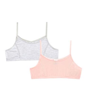 Pack of 2 Girls' Bralettes