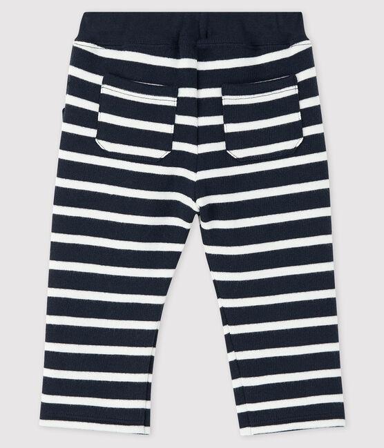 Baby boy's sailor trousers Smoking blue / Marshmallow white