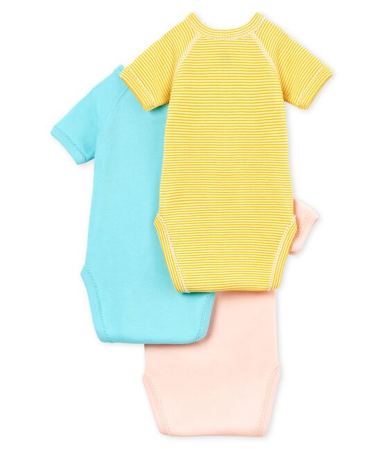 Baby Girls' Short-Sleeved Newborn Bodysuit - Set of 3 . set