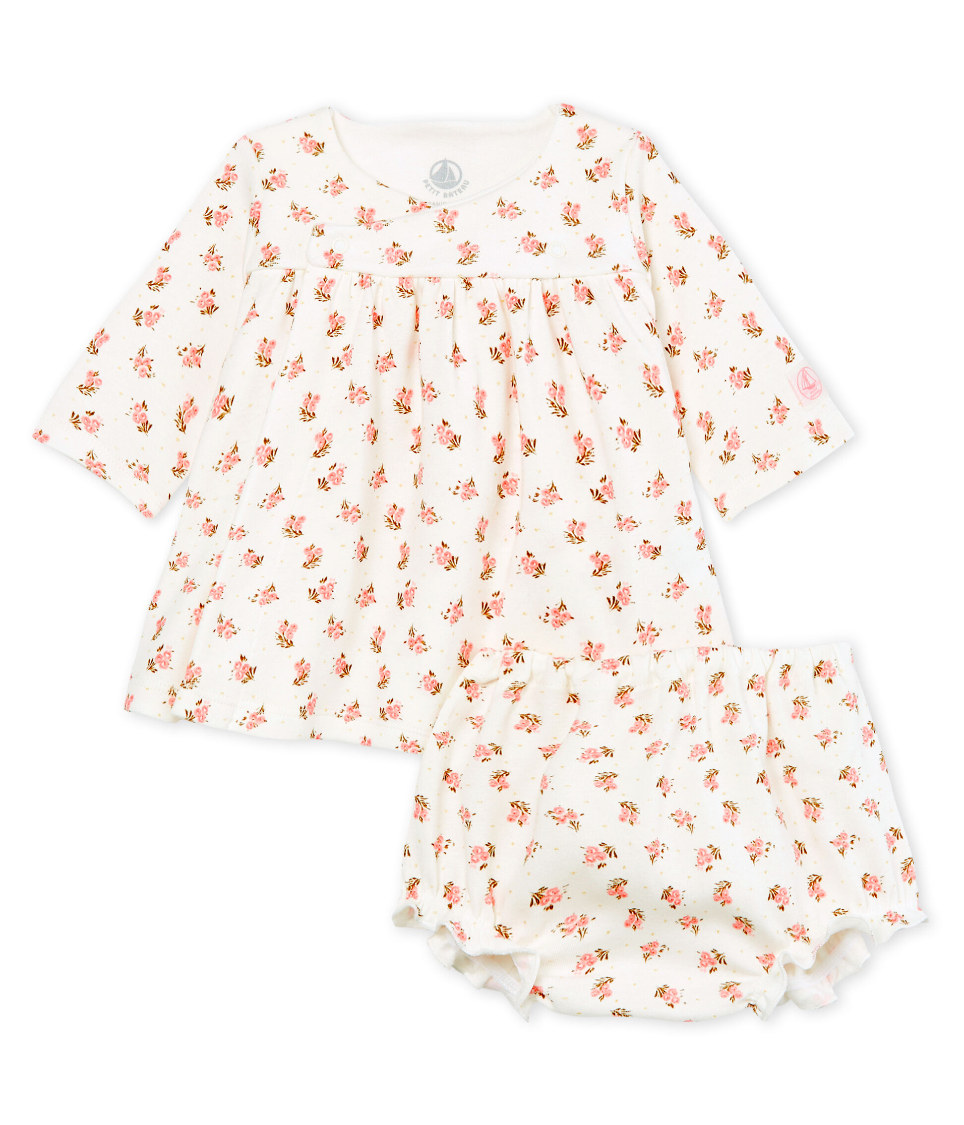 Petit Bateau Baby Girl Bloomer with Bow