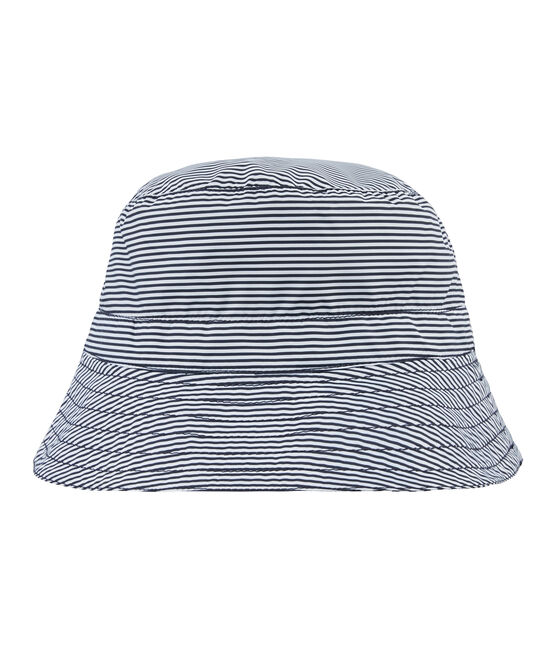 Unisex Reversible Rain Hat Smoking blue / Marshmallow white